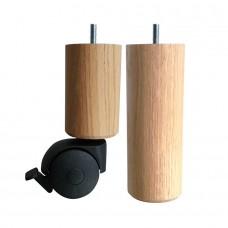 Loose wooden box spring leg set 6x