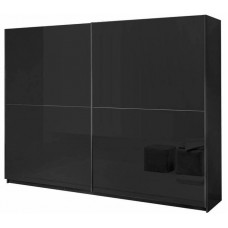 Davidi Design Kenzo Sliding door wardrobe Zino High gloss Black